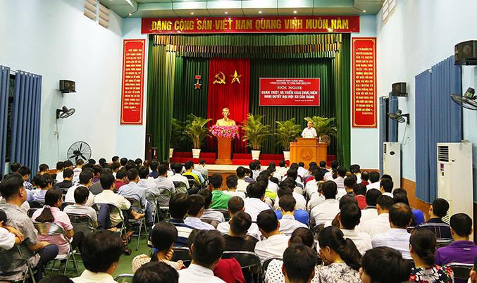 Đảng bộ Than Nam Mẫu triển khai học tập Nghị quyết Đại hội XII của Đảng
