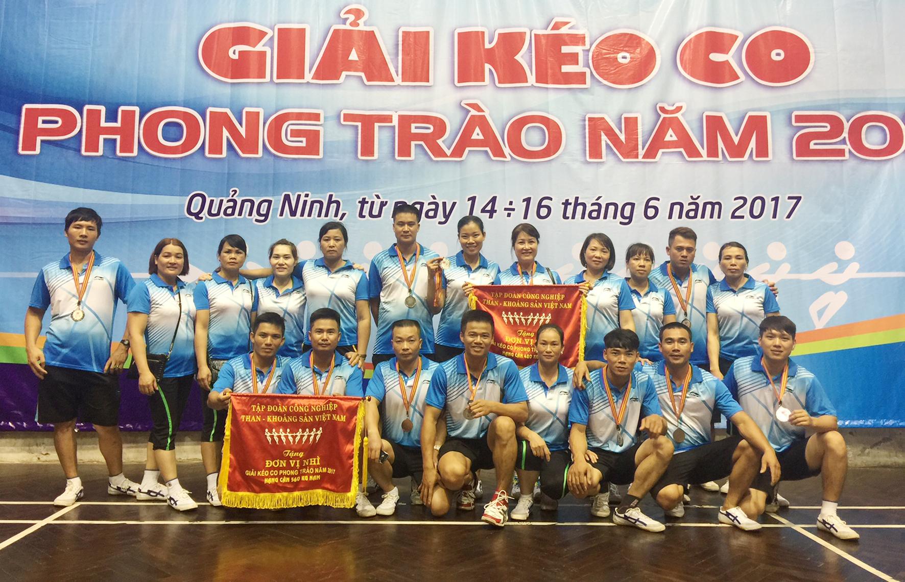 Đội tuyển Than Nam Mẫu đạt giải cao tại giải kéo co phong trào TKV (1)